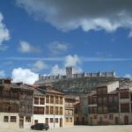 Plaza del Coso and the castle - shame about the car