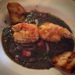 #vellutata #mushroom with #crispy #pancetta and #shrimp #tempura