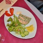 terrine saumon/légumes