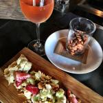 Rosé, Roasted Cauliflower Salad and Dave's Nuts