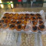 """""""Pasteis de Nata"""" - egg custard in puff pastry found in shop near Praca do Comercio!"""