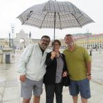 Our first day in Lisboa at Praca do Comercio!