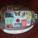 Leave one side of your coconut for beautiful stamps.