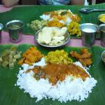 Vegetarian banana leaf