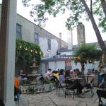 Courtyard diners.