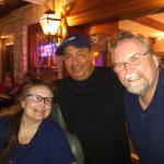 Our picture with the owner that is on his game with this restaurant!