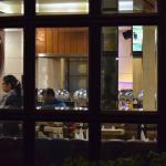 Restaurant seen through the window