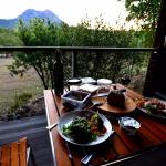 Dinner on rear deck