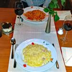 Spaghetti Carbonara für EUR 11.50 (grosse Portion & sehr lecker)
