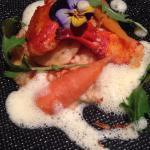 homard et risotto de carotte, divin