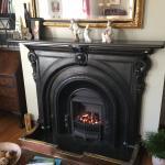 A cozy fire.