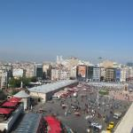 View from the conference room on the very top with veranda.(Taksim square)