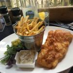 Fish & Chips, well, they were more of French Fries. Delicious fish and tartar sauce.