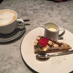 Honeycombe dessert and latte Delicious ....