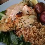 CRAB STUFFED FLOUNDER  DELICIOUS AND LARGE SERVING