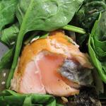 salmon RAW inside!