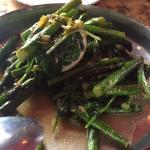Seasonal asparagus with egg