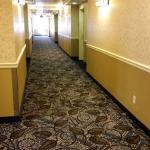 New hallway carpet in the suite buildings