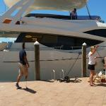 The 78 NuMarine yacht and amazing golden yacht charter team!