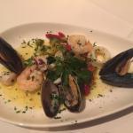 Insalata di Mare Tiepada - warm seafood salad (mussels, clams, calamari, shrimp, and scallops) i