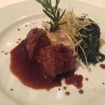 For our secoNodino de Maiale alla Sennape - pork tenderloin, green peppercorn - mustard