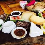 delish gourmet sheep cheese platter