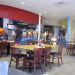 Eating area of the bowling alley