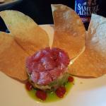 Ahi tuna tartar during happy hour $7