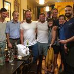 Wonderful dinner - owner Yogi on the right