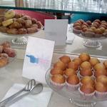 After the breakfast room closes you get free pastries!