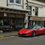 Parked my new car outside my favourite coffee shop ☺