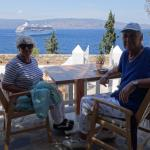 Hanna and I at the terras overlooking the Saronic Golf