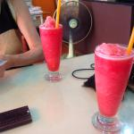 The Watermelon shakes. The owner went out specifically to the watermelon