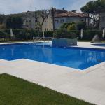 La stupenda piscina del Residence Ville del Lido