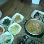 October 2015: Ramyeon, Kimbap and side dishes
