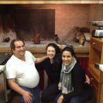With Ricardo, watching our bistecca alla Fiorentina being cooked