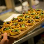 Appetizers served during private events