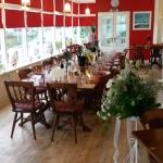 Dining room set up for a Wedding. Most functions can be catered for