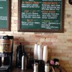 coffee station in the front of Brew