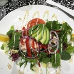 Prawn marie-rose and avocado salad