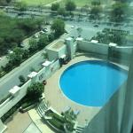 The pool view room