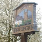 Thrussington Village sign outside the Star Inn