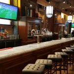 The marble bar top and spectacular back bar at Joe Baldi's