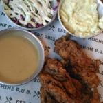 Best of the bunch--JFC chicken, comes with slaw and mashed potatoes