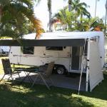 Caravan on site