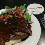 $12 generous rump steak! Delicious!