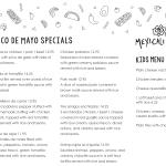 Cinco De Mayo Dinner Menu