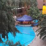 This is a view of the indoor pool from the room