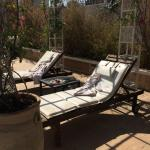 Sun loungers left with dirty towels