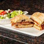 Chicken Parmesan Sandwich and Salad